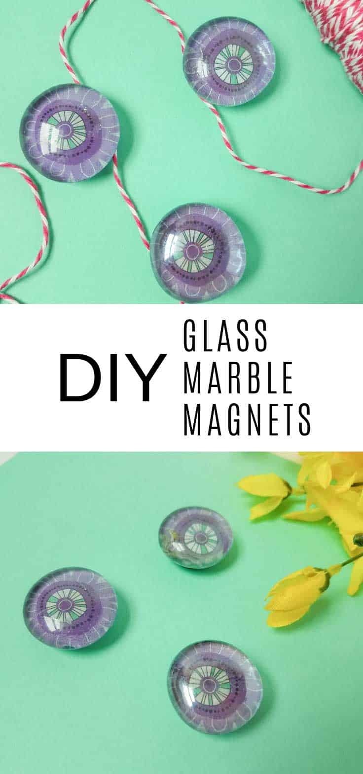 These DIY Glass Marble Magnets are super easy to make and you can make them to match your kitchen decor