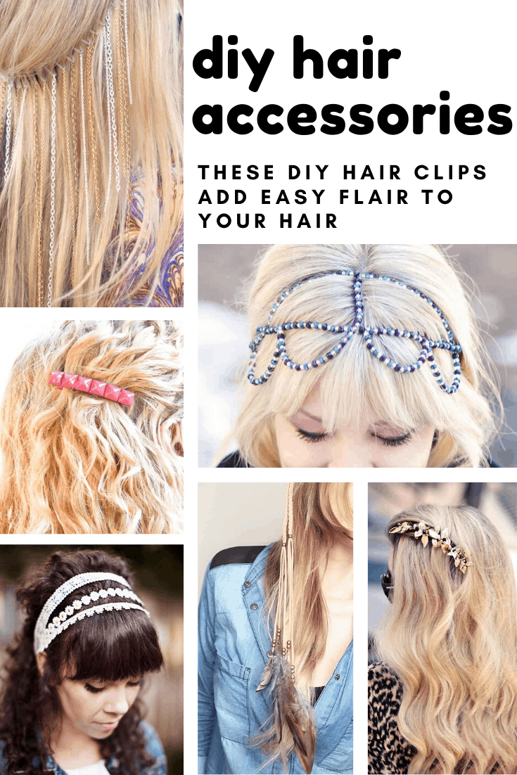 Loving these cute DIY hair accessories - such an easy way to add flair to your hair!