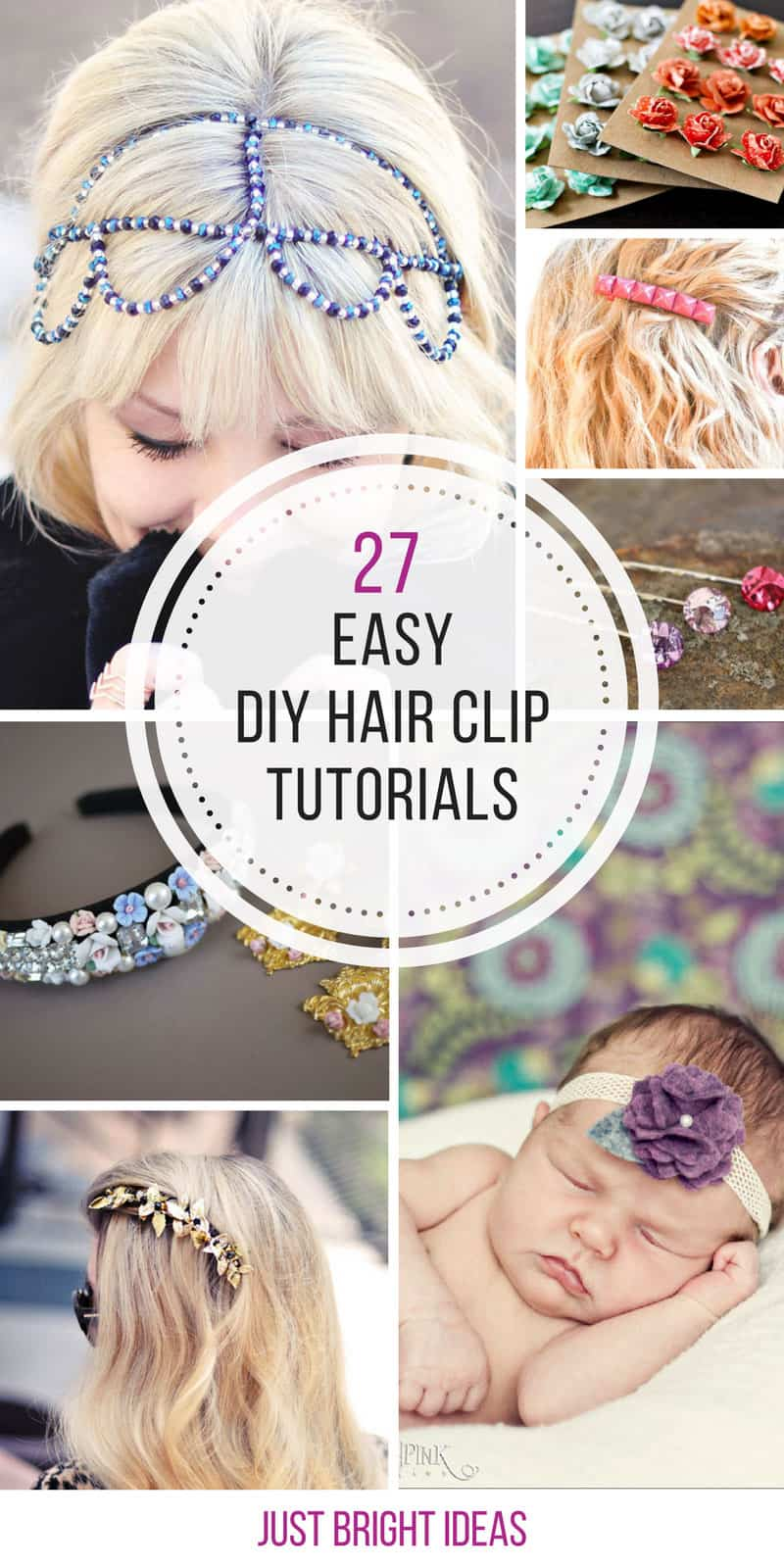 These hair clips are so easy to make! Thanks for sharing!