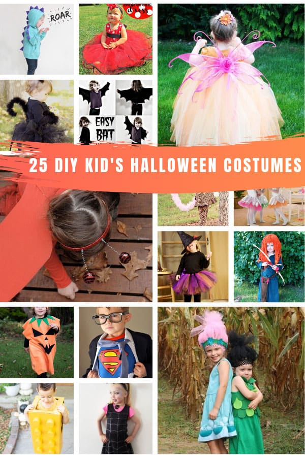 These DIY Halloween costumes for kids are adorable and so easy to make too! #halloween #kids #Costumes