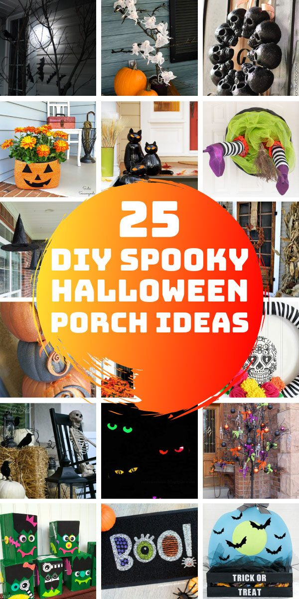 Loving these DIY Halloween porch decor ideas - so many fun ways to spook things up for the trick or treaters this October! #halloween #DIY #Decor