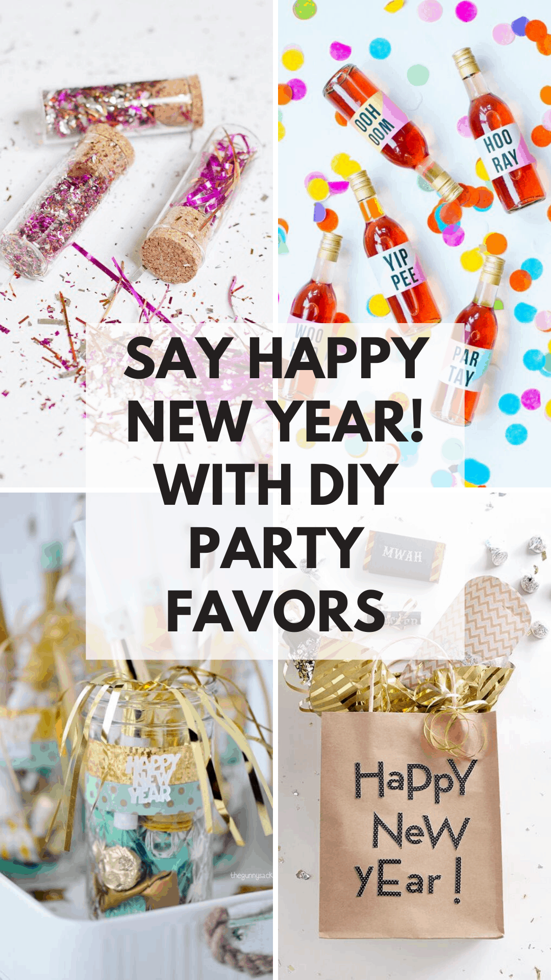 Help your guests ring in the new year in style with these fabulous party favors you can make this weekend!