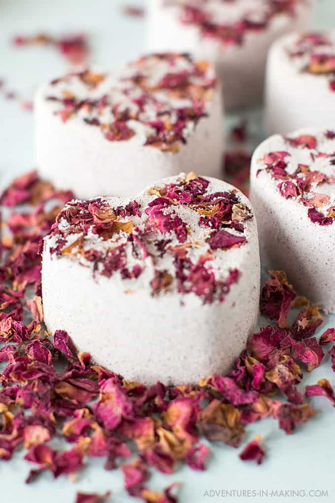 DIY Heart Bath Bombs for Valentine's Day