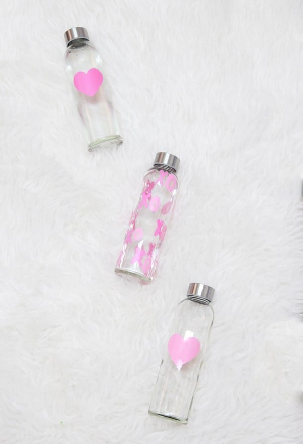 DIY Heart Water Bottles