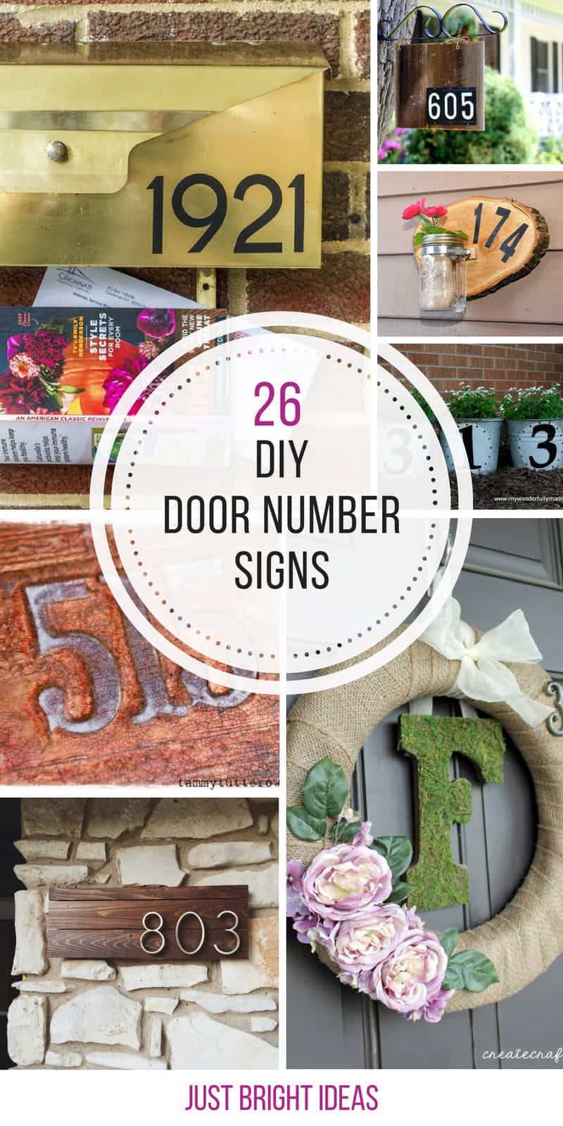 Loving these DIY house number signs!