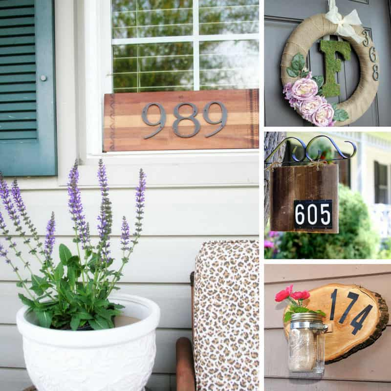 These DIY house number signs are fab!