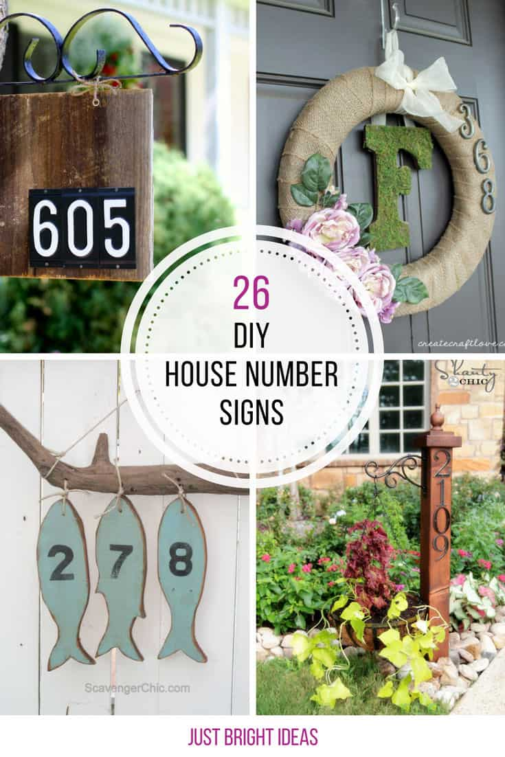 These DIY number signs are fabulous!