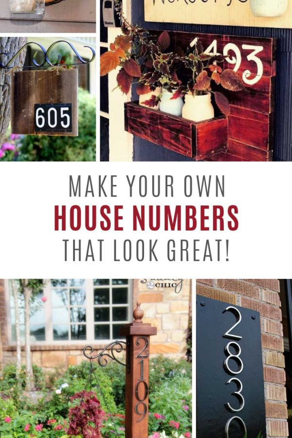 These DIY house numbers look FABULOUS