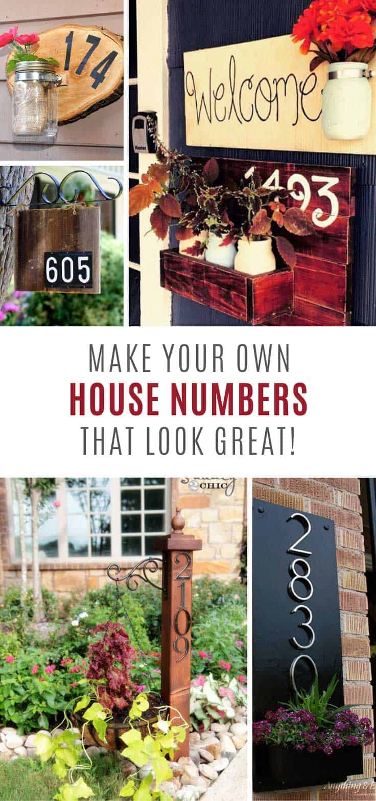 26 Gorgeous DIY House Number Signs You Need To See