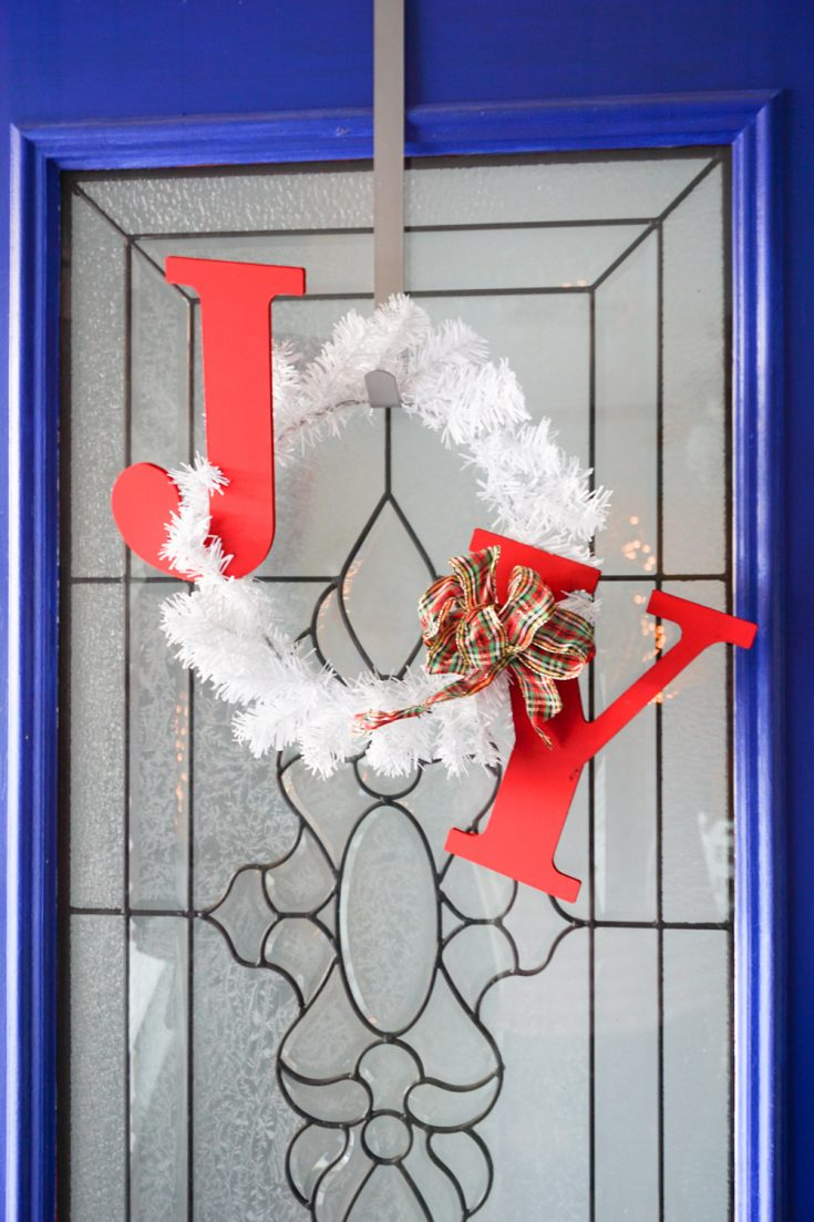 How To Make a JOY Holiday Wreath