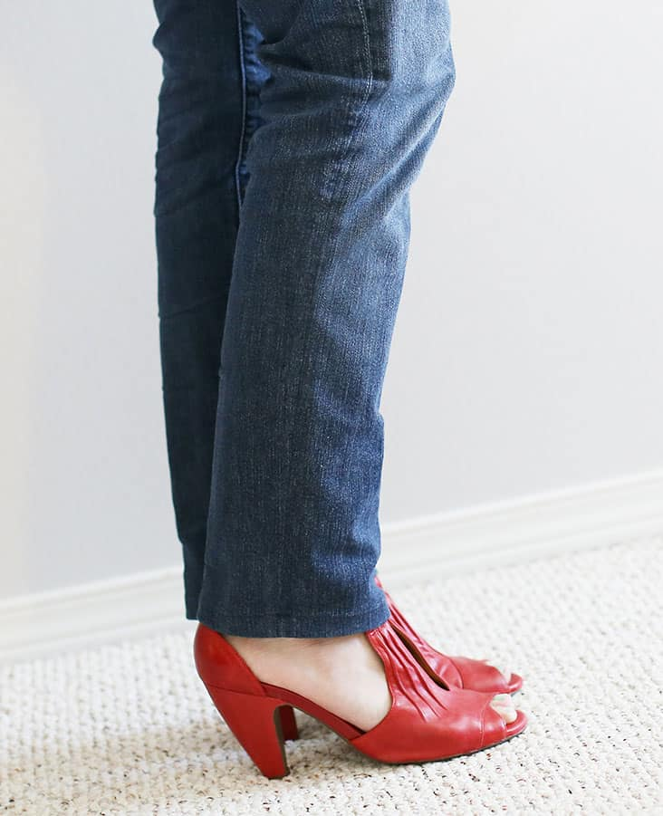 DIY Jean Alteration: Bootcut to Skinny