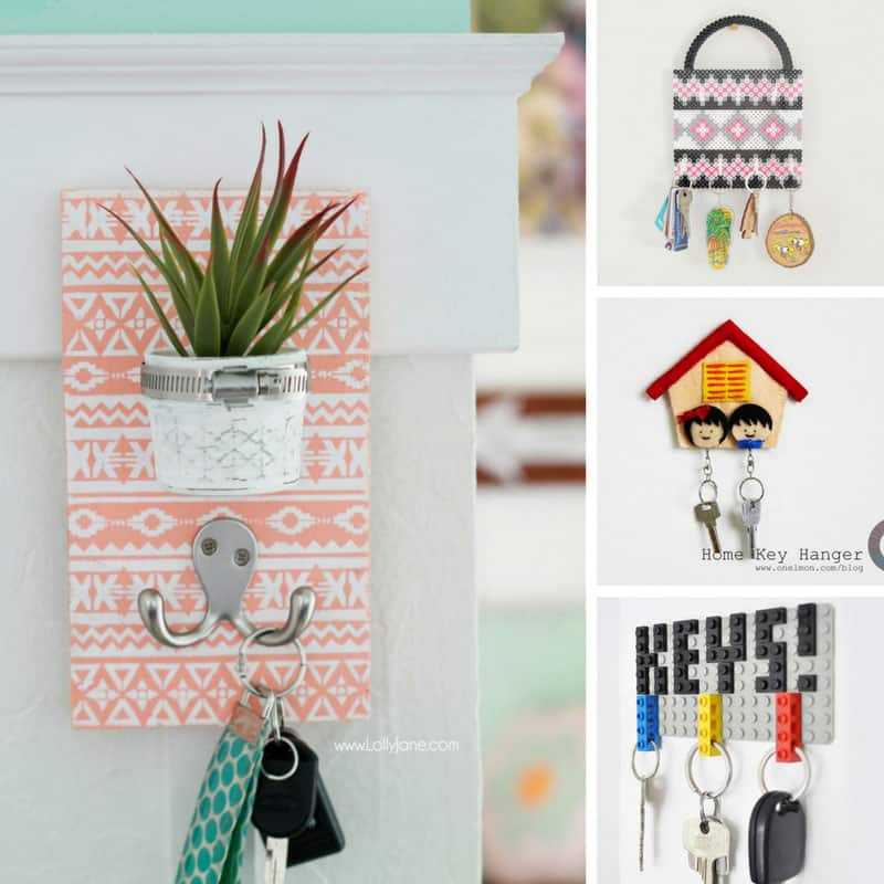 These DIY key holders look great and now we don't lose our keys because they're in the entry way where we need them!