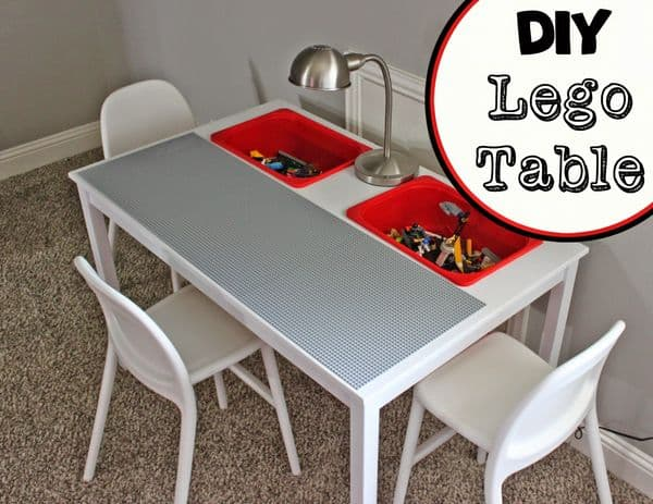 DIY Lego table with inbuilt storage