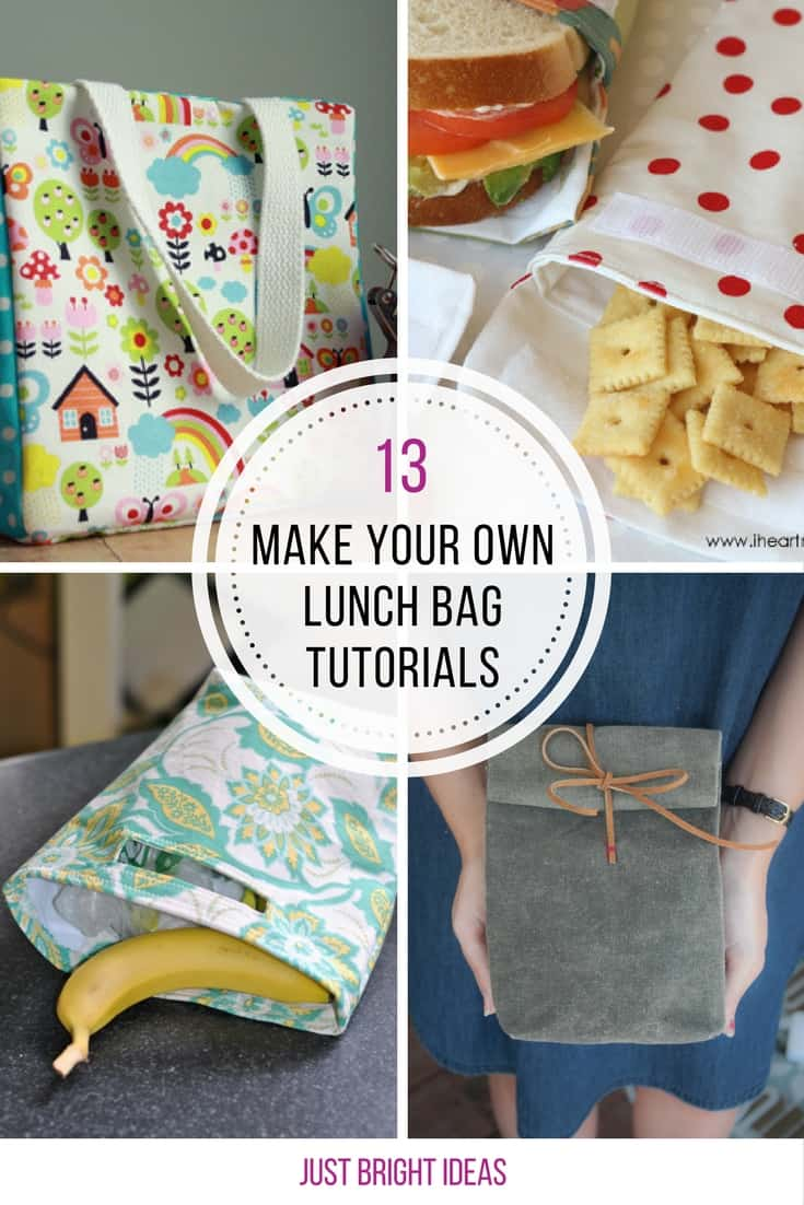 These DIY lunch bag tutorials are so easy to follow! Thanks for sharing!