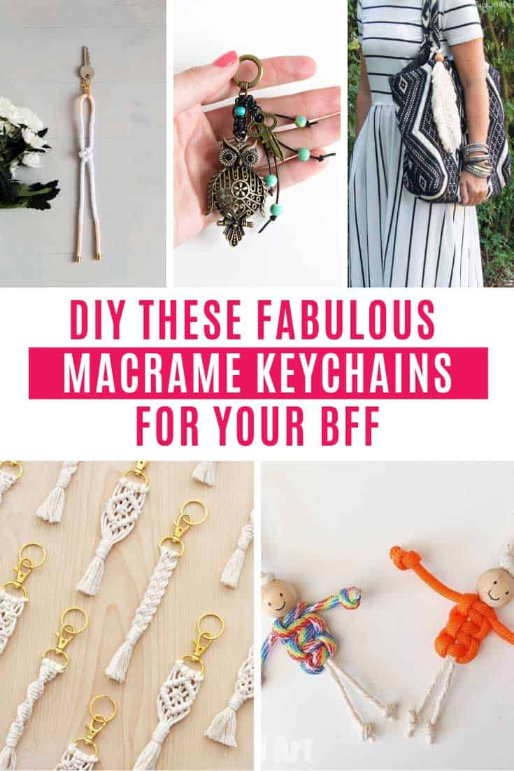 The macrame patterns I'm sharing today are all beautiful and the keychains you make can be given as handmade gifts to friends and family. Or of course you can keep them all to yourself to keep your keys safe or add to a purse zipper for a boho vibe!