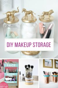 These DIY Make-up storage ideas are fabulous!