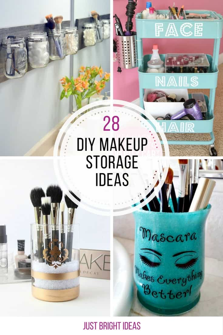 So many great DIY makeup storage ideas here - saving this one for later!