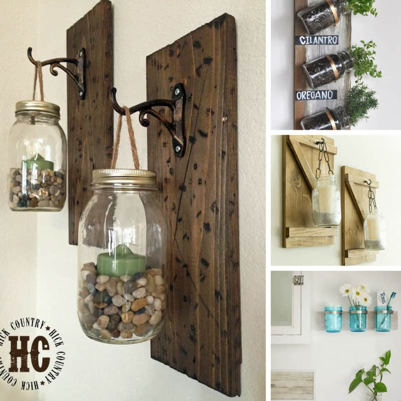 These DIY mason jar wall hangings are so easy to make!