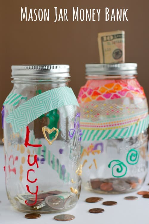 Decorate a Mason Jar Bank