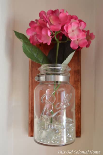 17 gorgeous diy mason jar wall scones to inspire you. Black Bedroom Furniture Sets. Home Design Ideas