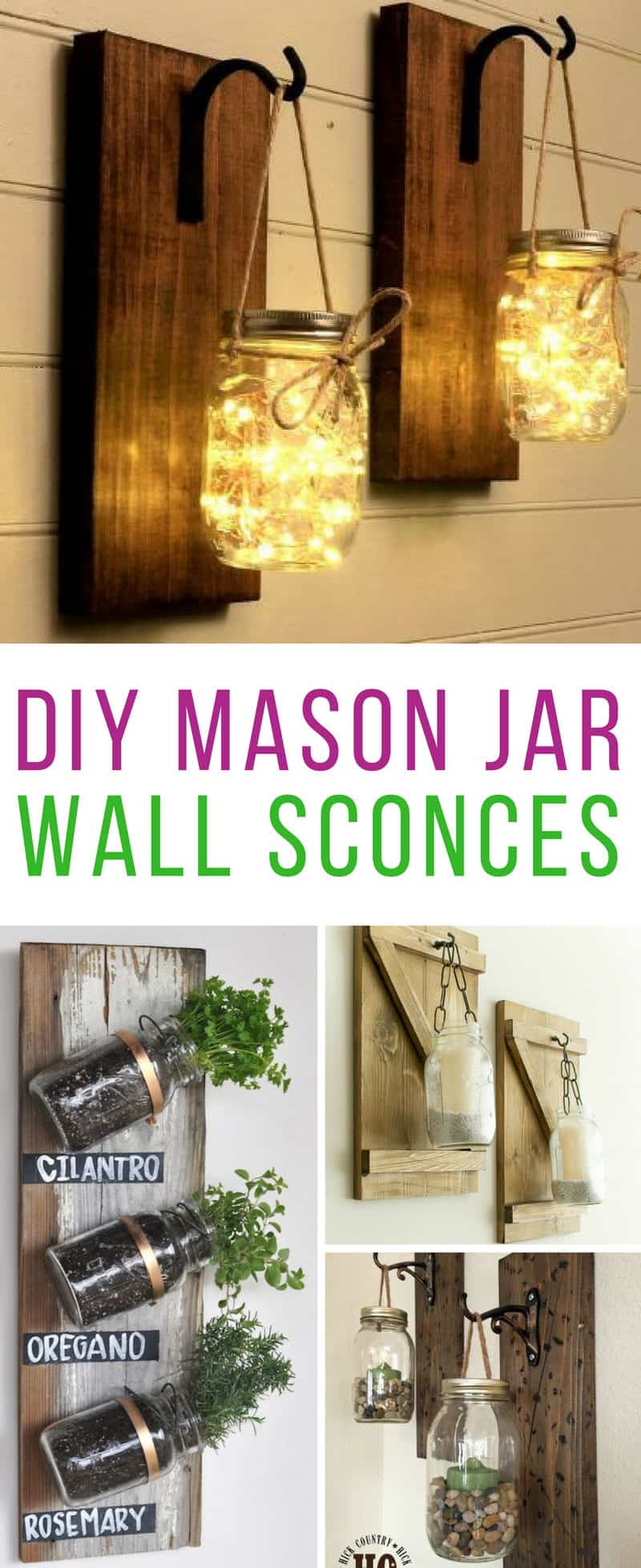 These DIY mason jar wall sconces are so easy to make! Thanks for sharing!