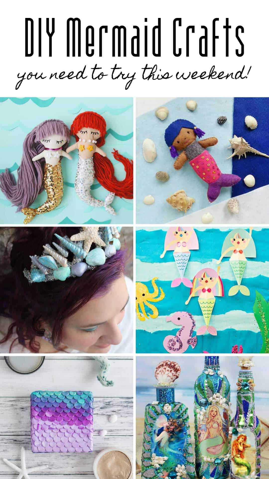 Loving these DIY mermaid crafts that are perfect for all ages from kids to grownups!