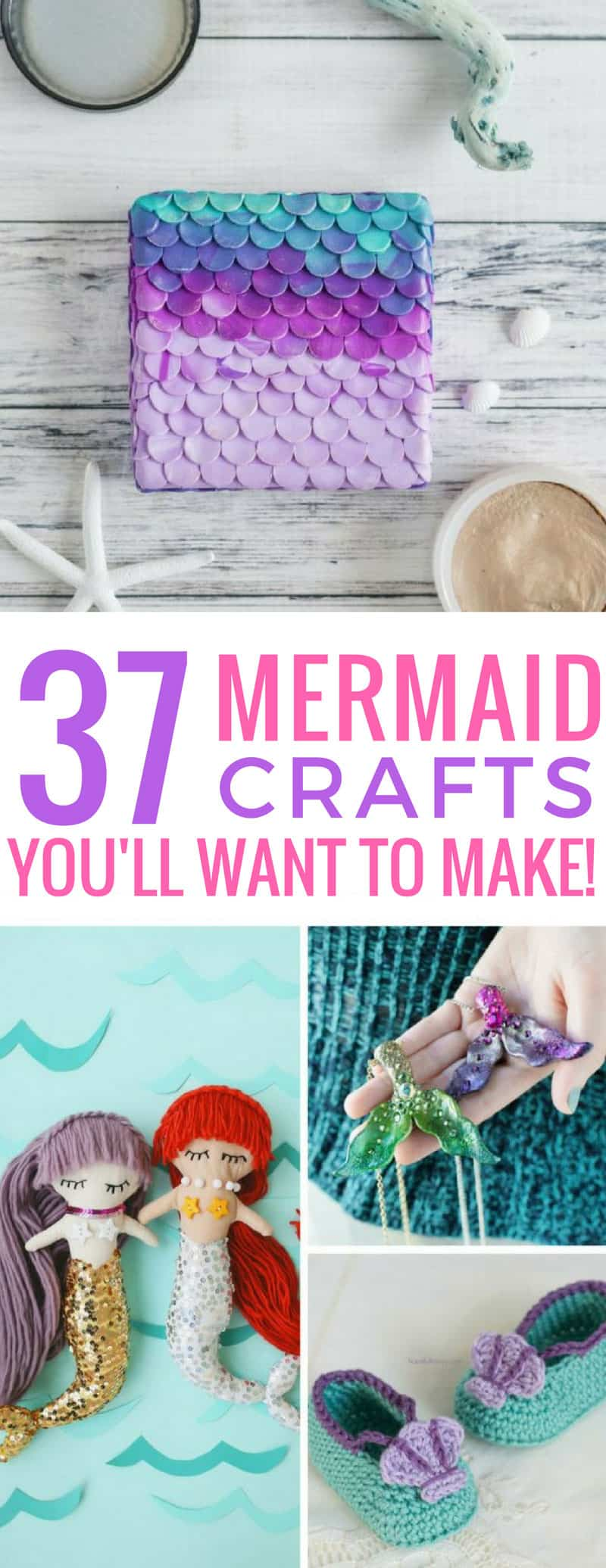So many gorgeous mermaid crafts for us to make this weekend! Thanks for sharing!