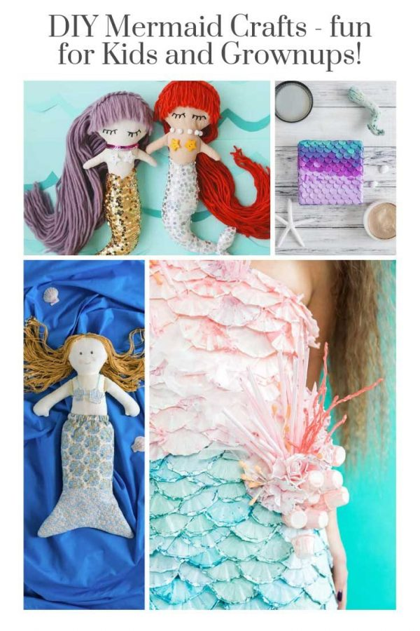 Oh my goodness these DIY mermaid crafts for kids (and mamas) are so CUTE! Can't wait to make some of these this weekend - they're perfect for sleepover activities too!