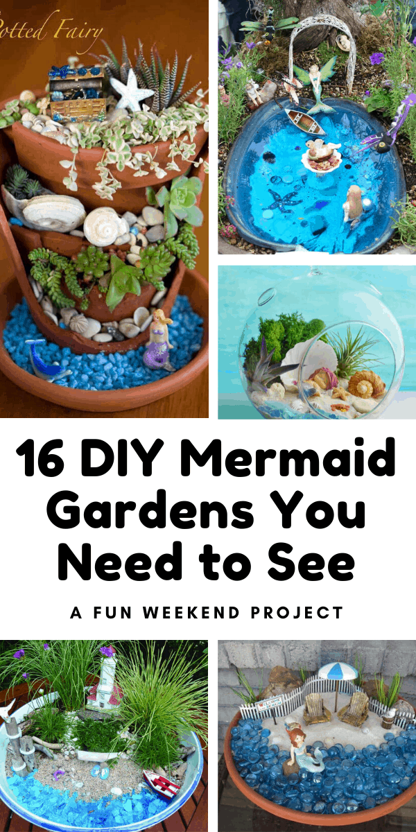 Don't miss these easy to follow DIY mermaid garden tutorials which are fun for kids and grownups to make! #mermaid #diy #crafts