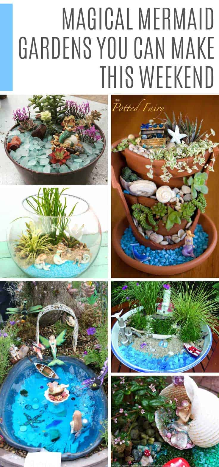 Ooh so many gorgeous DIY mermaid gardens to make - I need to go find a broken flower pot or two!