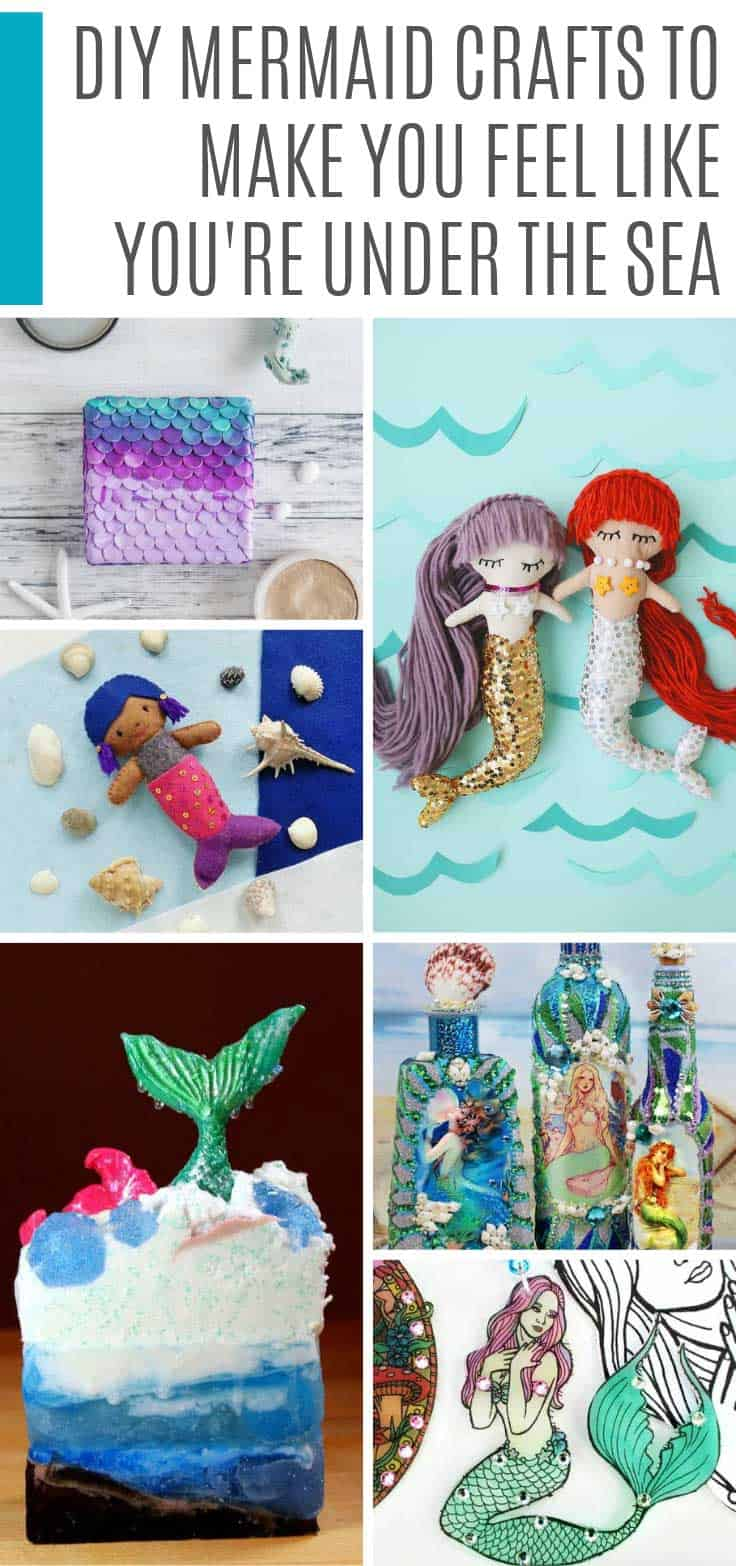 Loving these DIY mermaid projects! There are toilet paper mermaids and other crafts for kids, as well as jewlery and DIY soap crafts for moms!