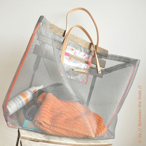 DIY Mesh Beach Bag Tutorial