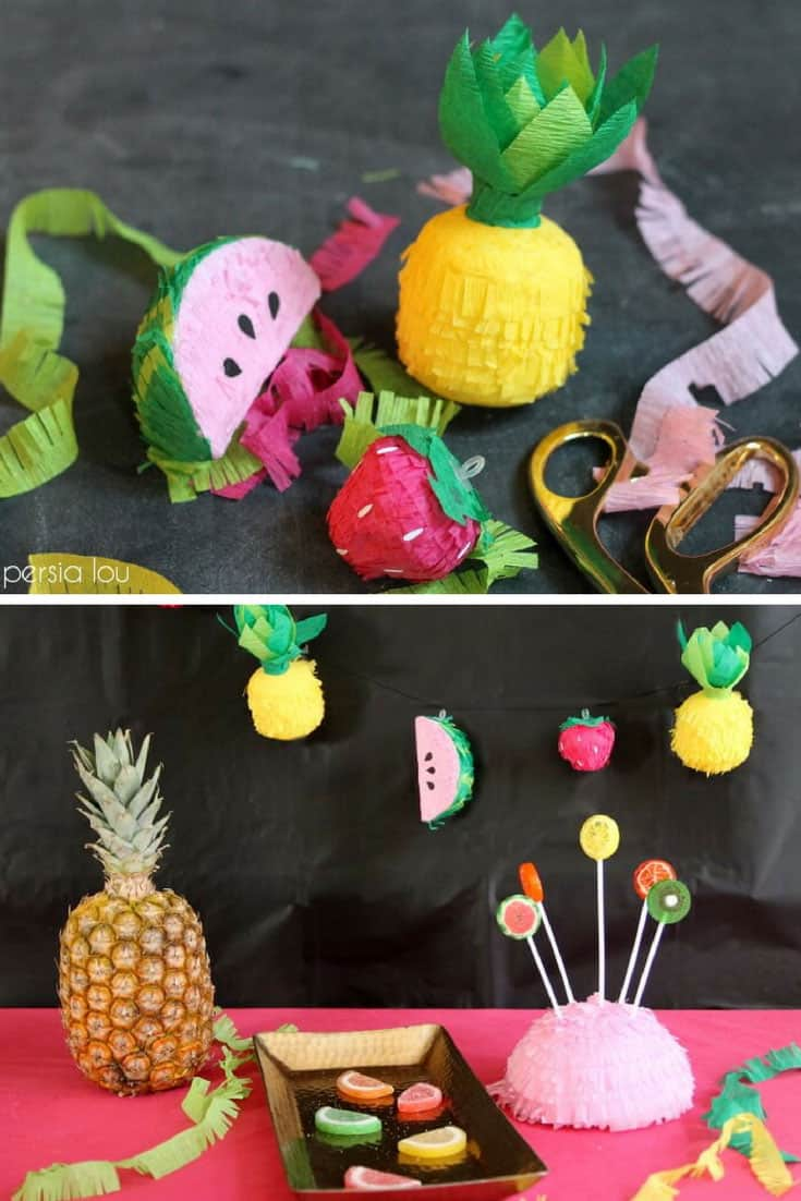 DIY Mini Fruit Faux Pinatas