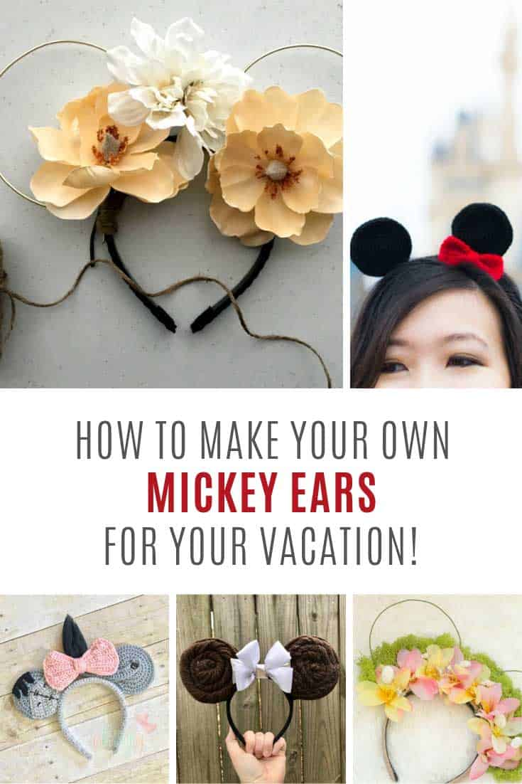 So many cute DIY Minnie ears to make for your Disney World trip!