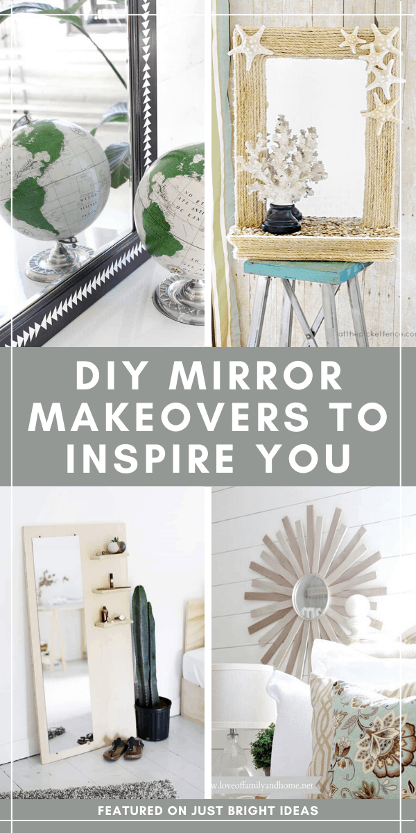 Loving these repurposed mirror makeovers - the perfect way to take a flea market find and turn it into something stunning for your home!