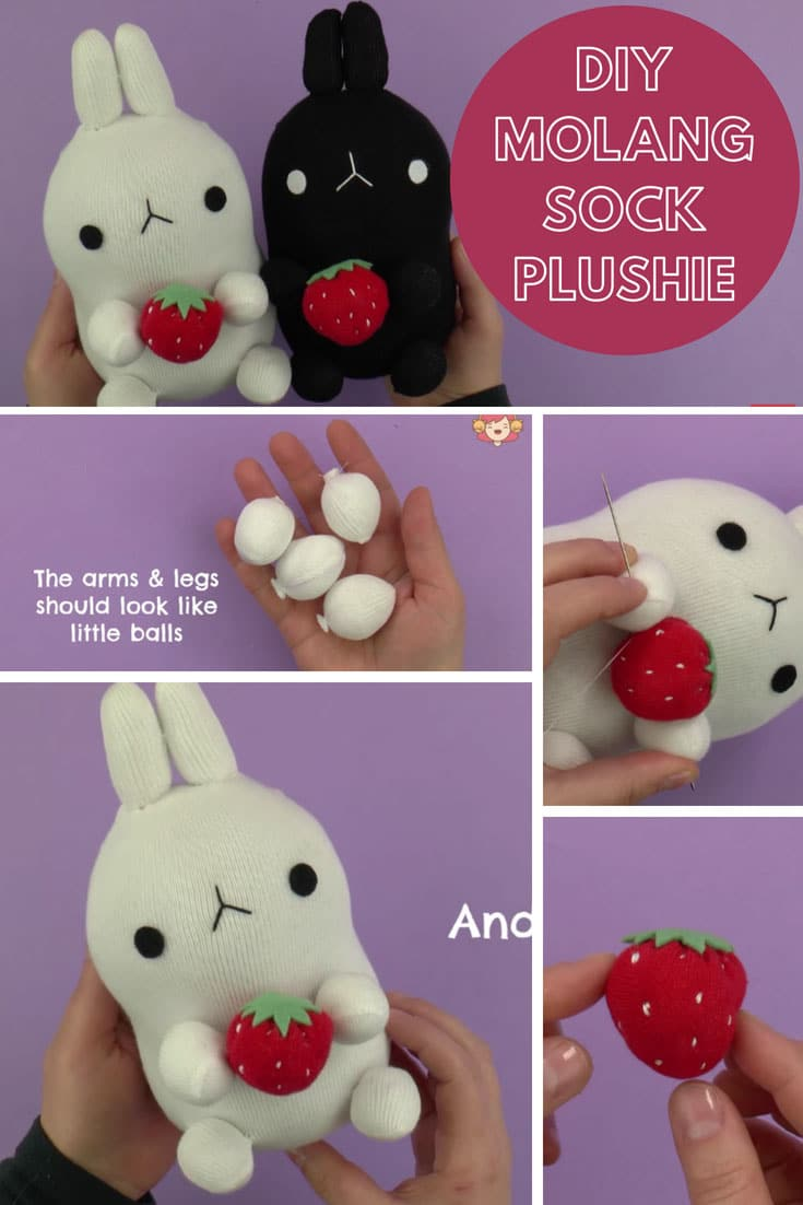 DIY Molang Sock Plushie Video Tutorial
