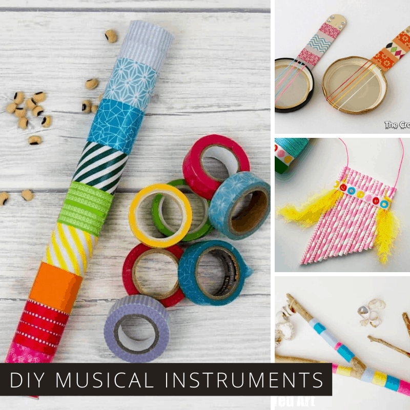 You Kids Will Have Fun Making and Then Playing These DIY Musical Instruments