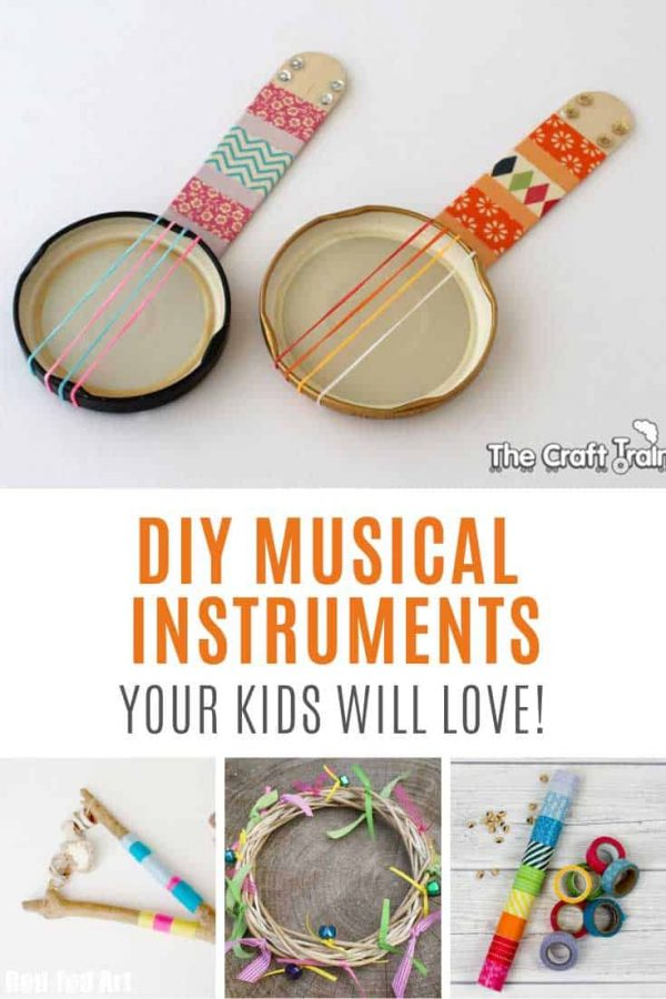 Loving these DIY musical instruments for kids!