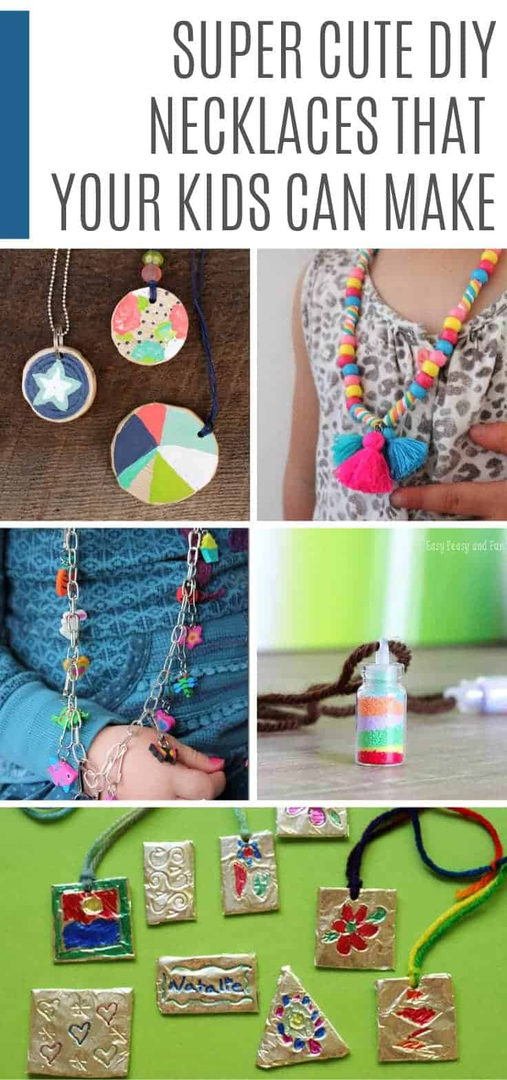 These DIY necklaces are fun for kids to make and can be given as gifts or even sold at the school fair!