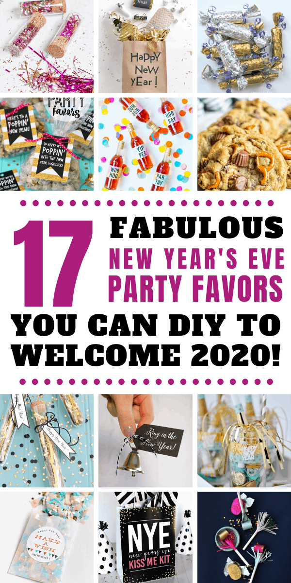 Loving these DIY New Year's Eve party favors - from kiss me kits to glitter tubes! Your guests will love them too!