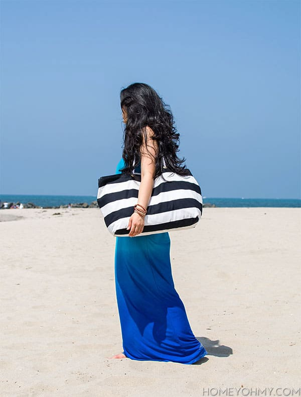 DIY No Sew Beach Tote