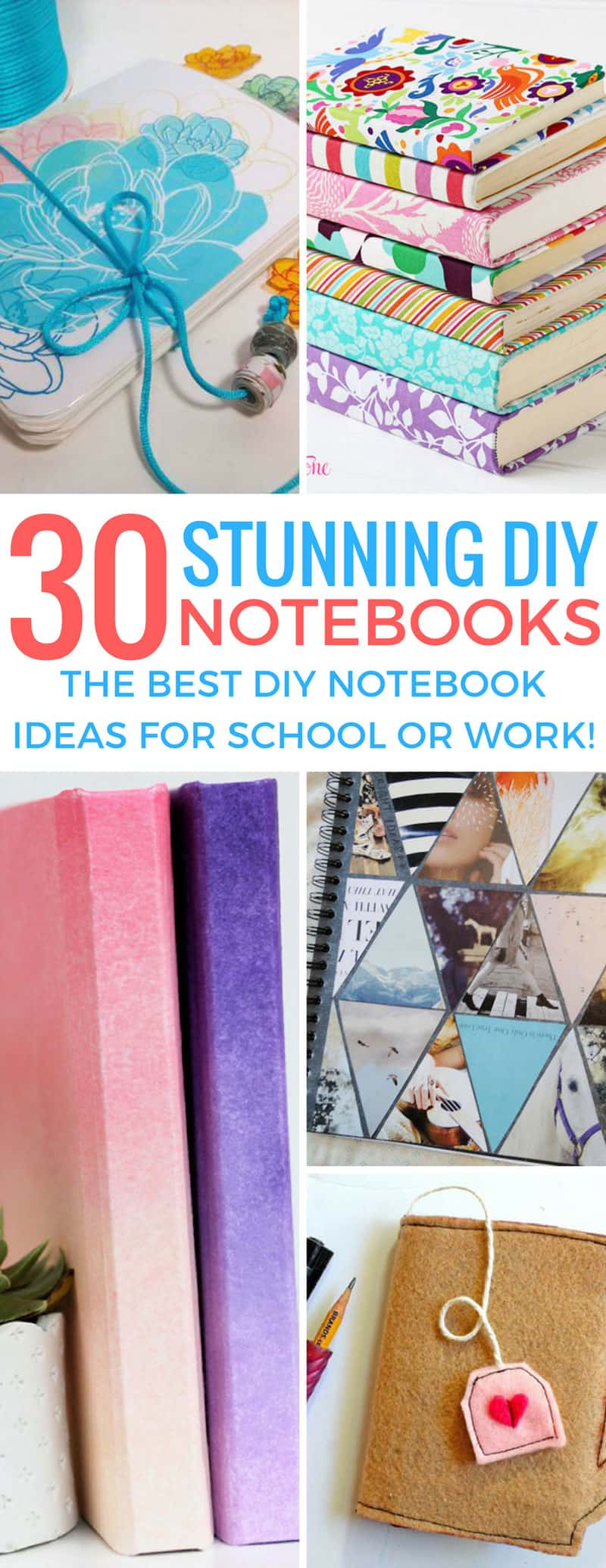 These DIY notebooks look so good no one will actually believe I made them myself! Thanks for sharing!