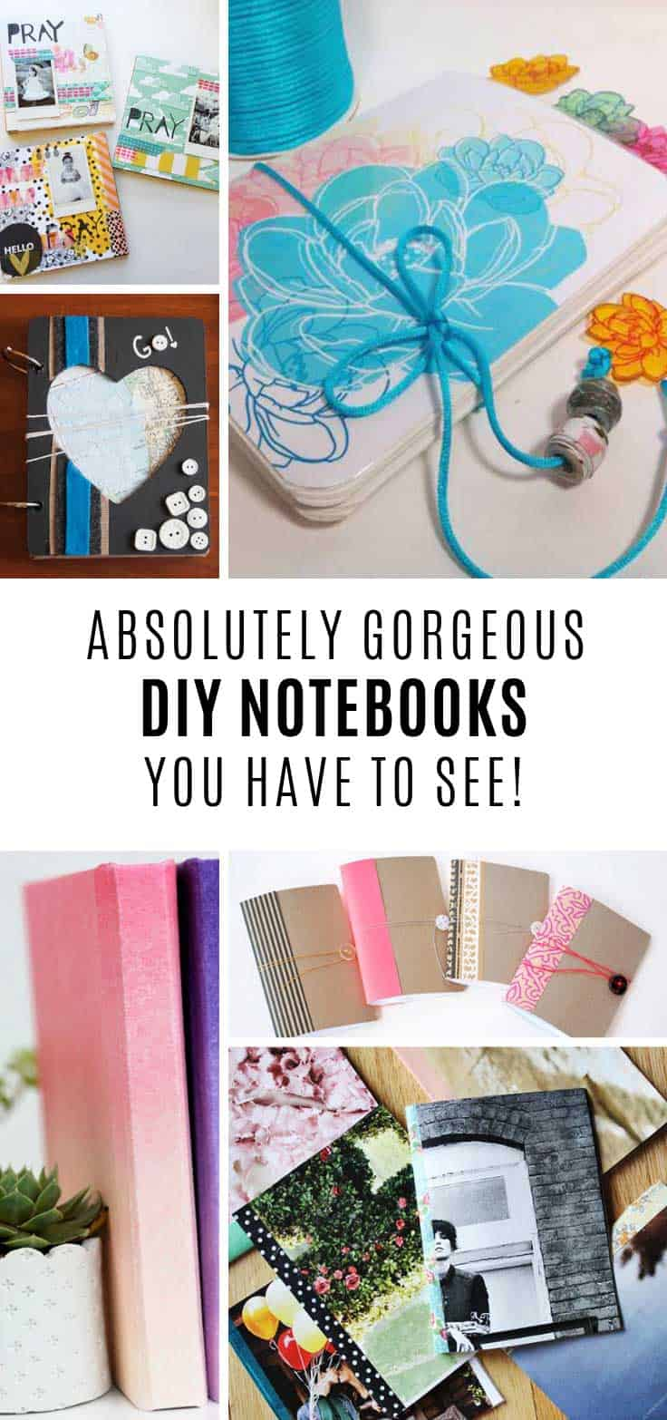 Loving these DIY notebooks and so easy to make!