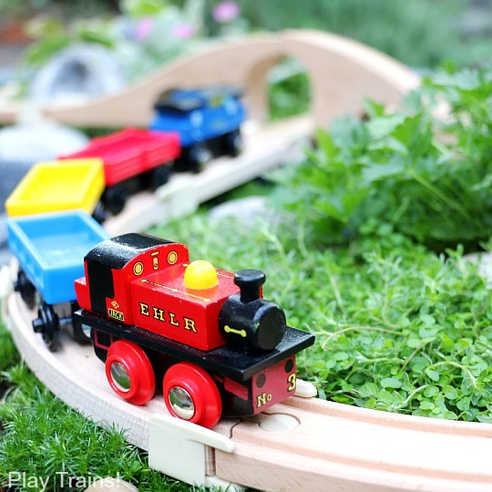 DIY Outdoor Train Table: a Wooden Train Garden Railway