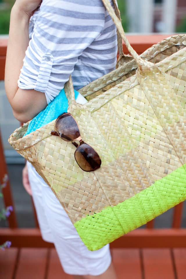 DIY Painted Beach Tote