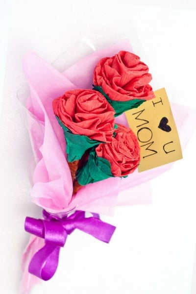 DIY Paper Flower Bouquet Mothers Day Gift