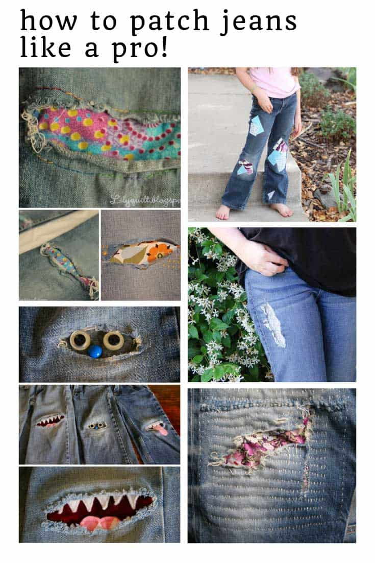 Loving these DIY patches for jeans!