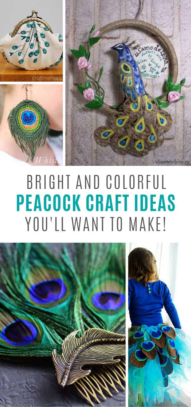 13 Colorful Peacock Crafts You Need to Make this Weekend