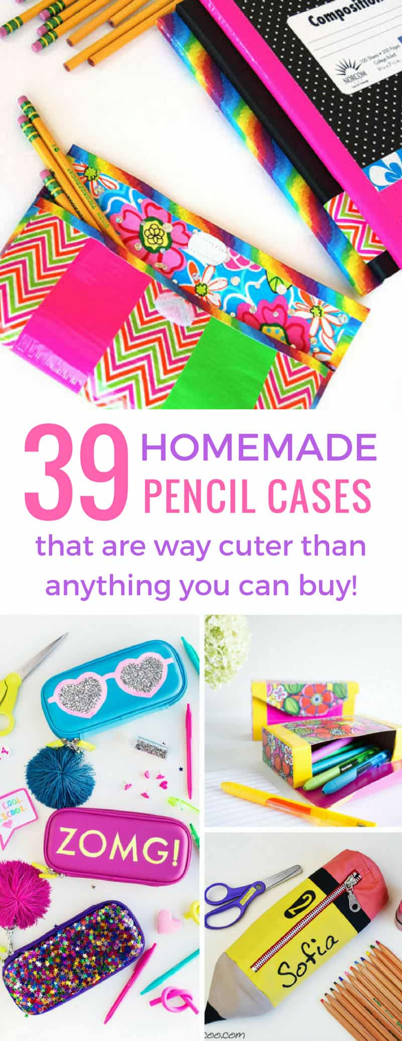 Wow these DIY pencil cases are super cute and the kids are going to love them for back to school!