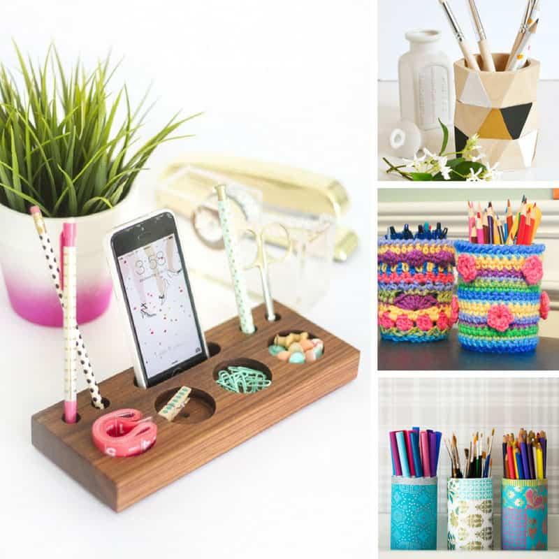 21 Brilliant Diy Pencil Holders You Can Make This Weekend: cool pencil holder ideas